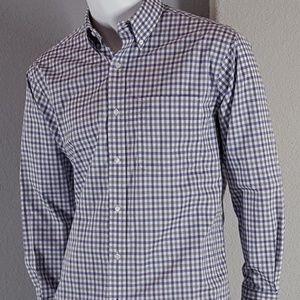 Tommy Hilfiger Gray Purple Button Up Shirt 15 1/2